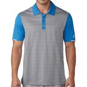Adidas Chlimachill Tri-Geo Print Polo Shirt Herren grau/blau